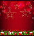 christmas postcard with stars vector image vector image