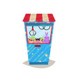 claw crane game machine arcade game machine vector image