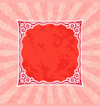 Decorative Red Vintage Frame and Background vector image
