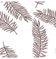drawing seamless pattern with palm leaf vector image
