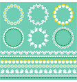 easter borders and circle frames vector image vector image