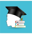 eduation online concept student books school vector image vector image