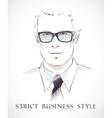 Fashion businessman portrait vector image