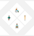 flat icon handicapped set of disabled person vector image vector image
