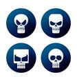 flat style skull icon vector image