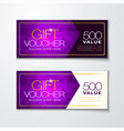 gift voucher with clean and modern diamond pattern vector image