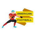 goalkeeper stand with ball american football vector image vector image