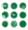 Green Grunge Stamp Set vector image