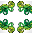Green-yellow abstract swirl background pattern vector image vector image