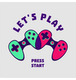 heart-shaped gamepad couple gamer sign love vector image vector image