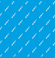 knife pattern seamless blue vector image vector image