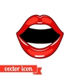 Lips icon 7 vector image vector image