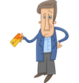 man with credit card cartoon vector image vector image