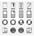 Mobile phone service icon set vector image vector image