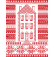 nordic christmas gingerbread house vector image vector image