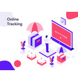 online tracking isometric modern flat design vector image vector image