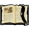 opened old book vector image