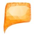 Orange bubble vector image vector image