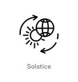 Outline solstice icon isolated black simple line