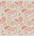 paisley floral pattern background pink red blue vector image vector image