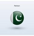 Pakistan round flag vector image