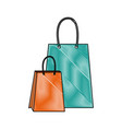paper shopping bag gift handle element vector image vector image
