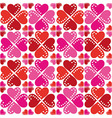 pattern of hearts seamless texture vector image