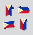 philippines flag stickers and labels vector image