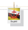 photo of brunei flag on white background vector image