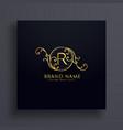 royal letter r premium logo concept design vector image vector image
