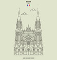 saint-ouen abbey church in rouen vector image vector image