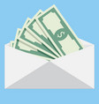 salary in envelope vector image vector image
