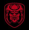 samurai logo design vector image vector image