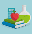 school supplies education icons vector image