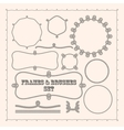 Set of frame templates and rope brushes design vector image