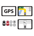 set of gps icons isolated object vector image vector image