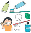 set of oral care vector image vector image
