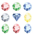 set of precious stones crystal diamond of vector image