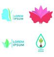 set of spa logos vector image