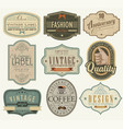 set vintage and retro badges vector image vector image