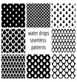 set water drops seamless patterns in vector image vector image