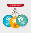 shopping special offers vector image vector image