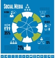 Social Media Infographic Template vector image vector image