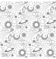 space doodle seamless pattern vector image vector image