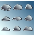 steel 3d clouds vector image vector image