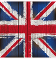 Union Jack on wooden planks vector image