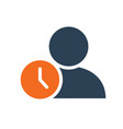 user profile with clock line icon public vector image