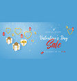 valentines day sale horizontal banner flyer vector image vector image