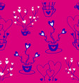 valentines hand drawn seamless pattern-03 vector image vector image