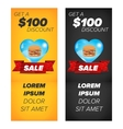 Vertical banners with fast food vector image vector image